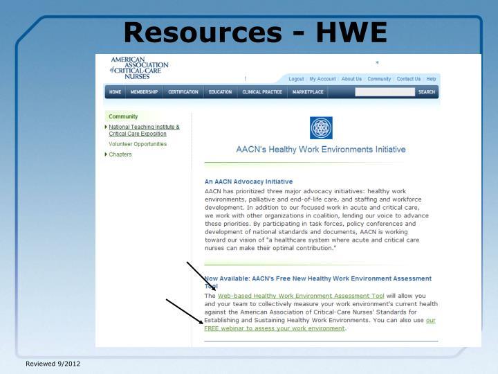 Resources - HWE