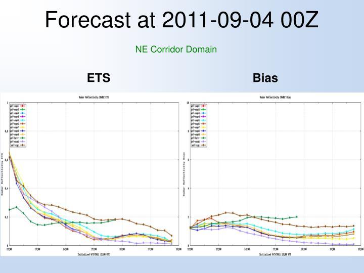 Forecast at 2011-09-04 00Z