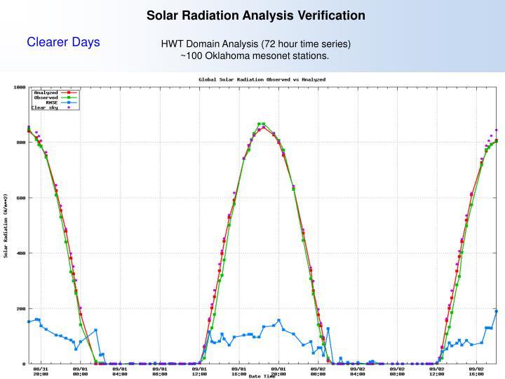 Solar Radiation Analysis Verification