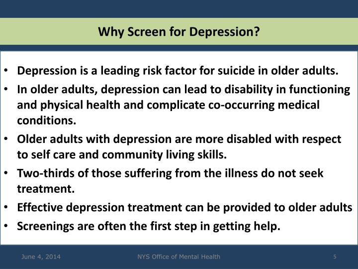 Why Screen for Depression