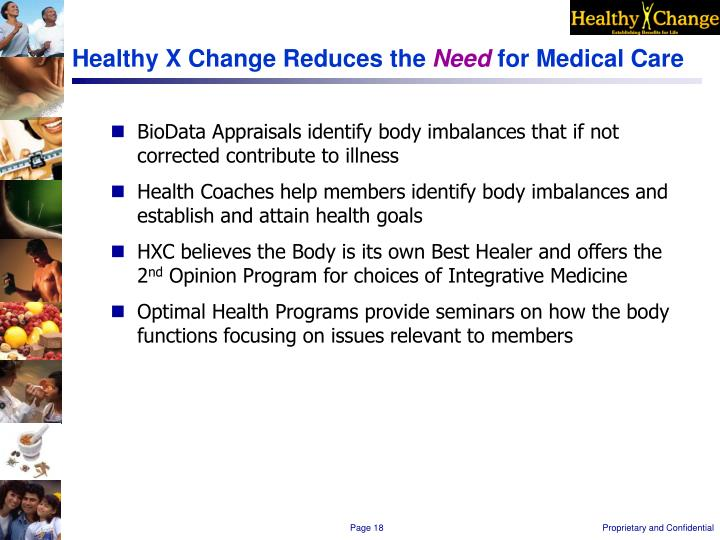 Healthy X Change Reduces the