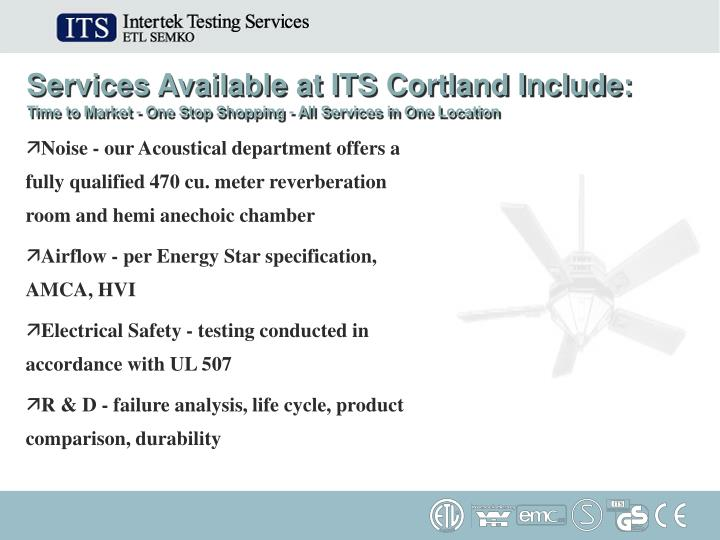 Services Available at ITS Cortland Include: