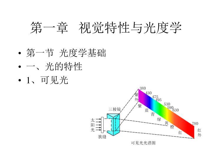 第一章   视觉特性与光度学