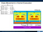 data movement in kernel execution