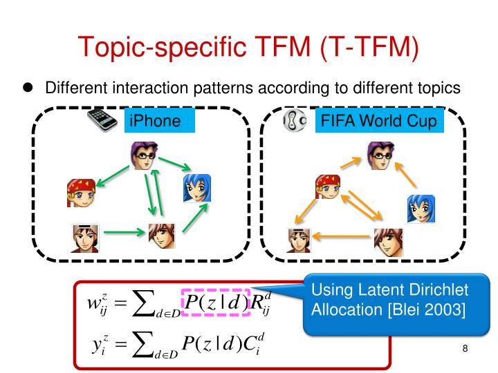 Topic-specific TFM (T-TFM)