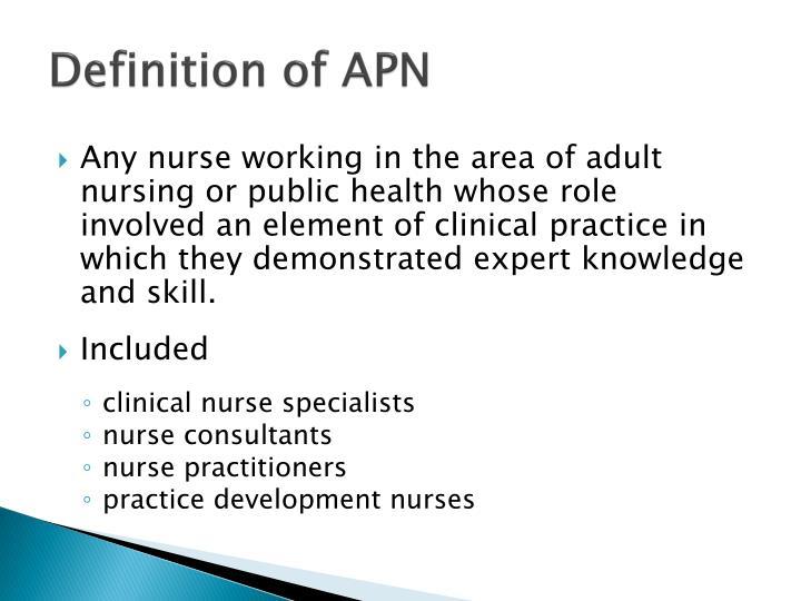Definition of APN