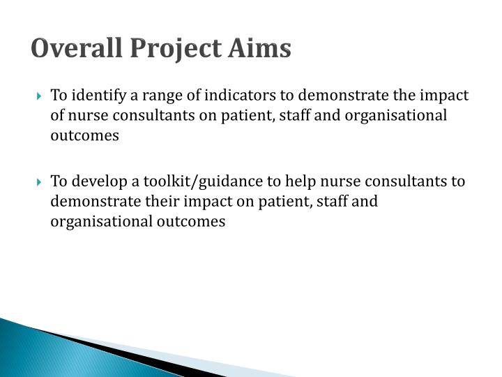 Overall Project Aims
