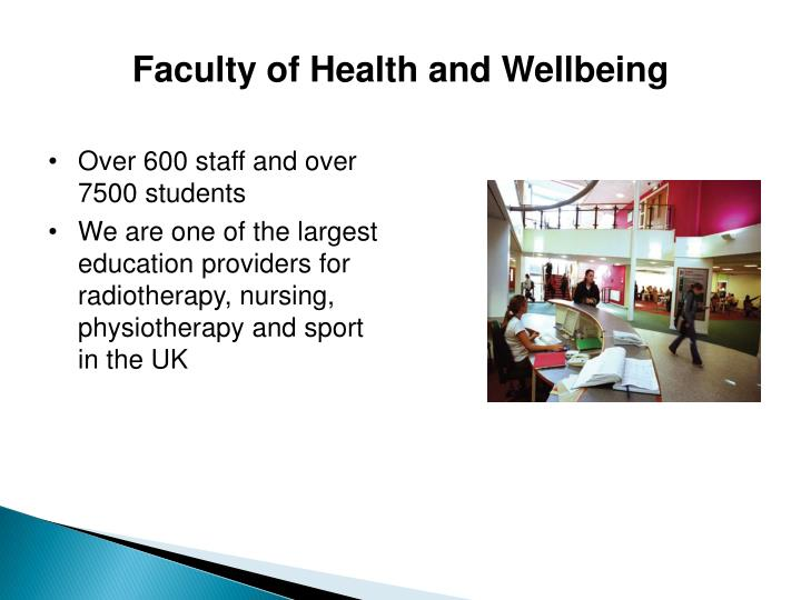 Faculty of Health and Wellbeing