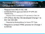 revision ed 122 do 306 to include cpdlc for atsa itp