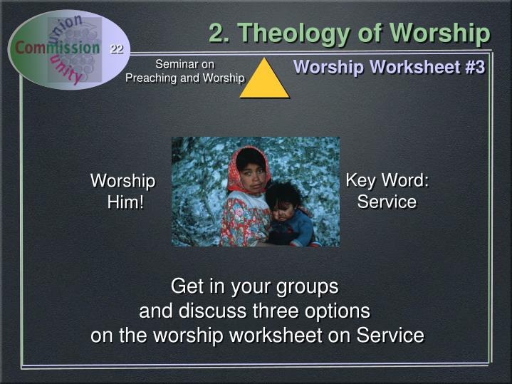 Worship Worksheet #3