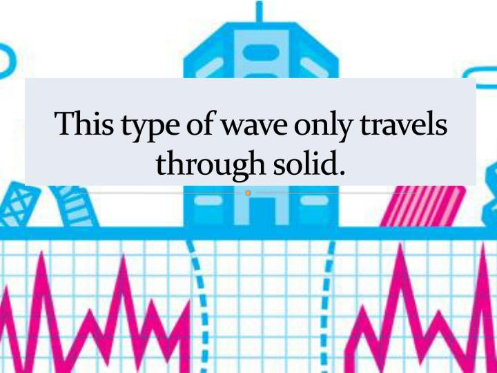 This type of wave only travels through solid.