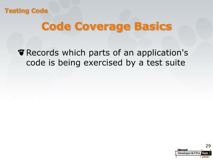 Code Coverage Basics