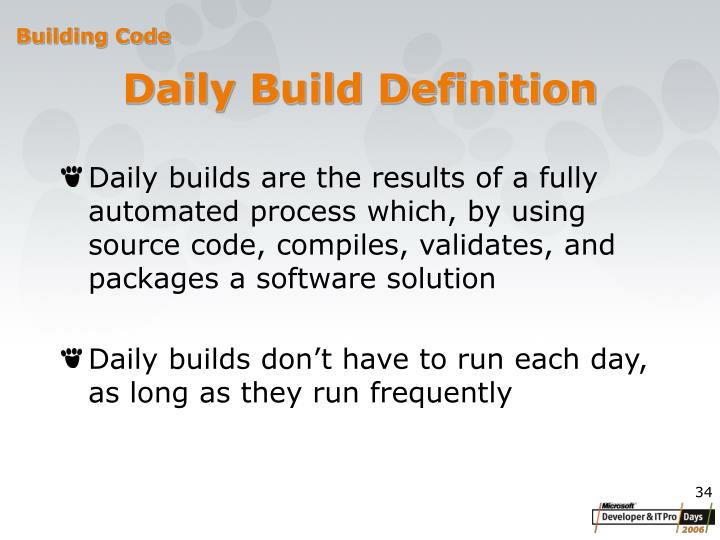 Daily Build Definition