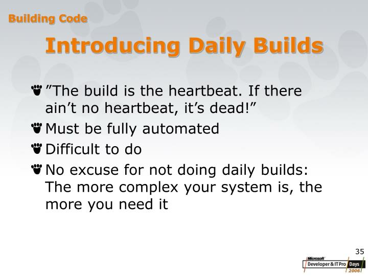 Introducing Daily Builds
