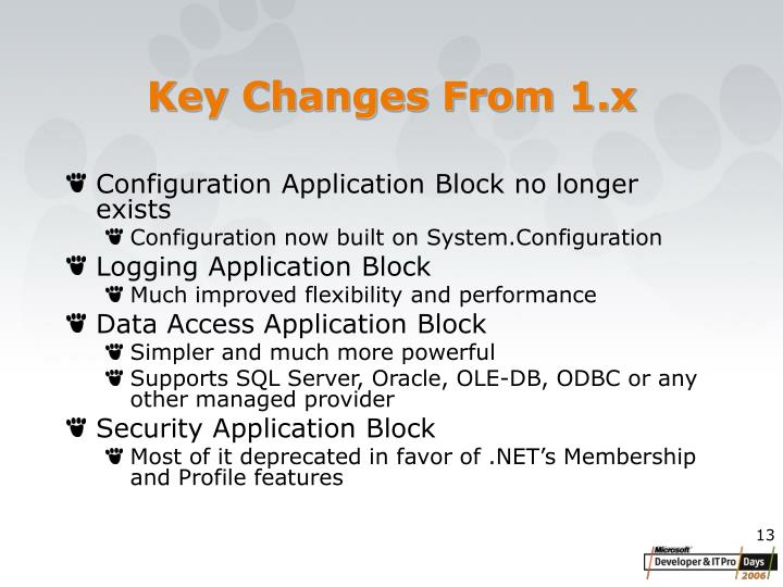 Key Changes From 1.x