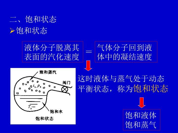 液体分子脱离其表面的汽化速度