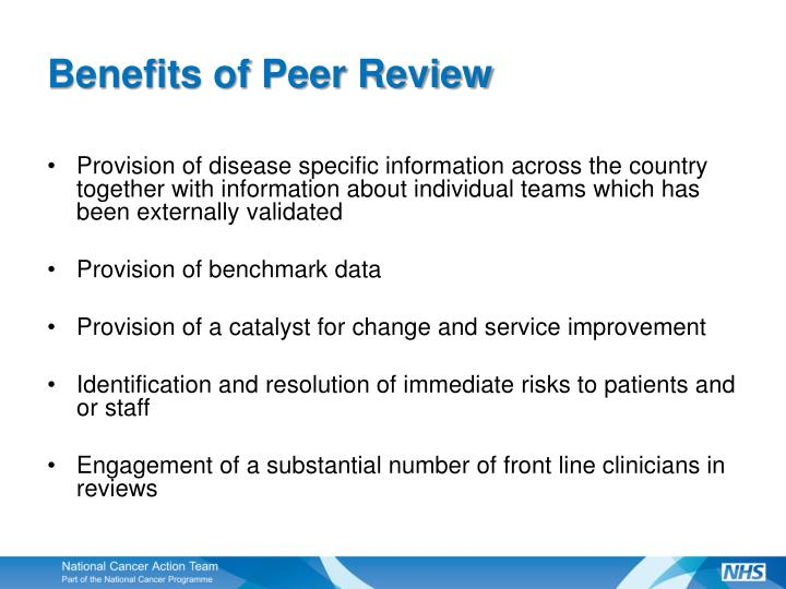 Benefits of peer review