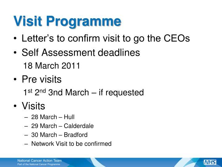Visit Programme
