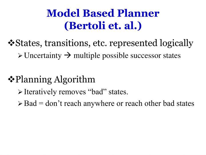 Model Based Planner