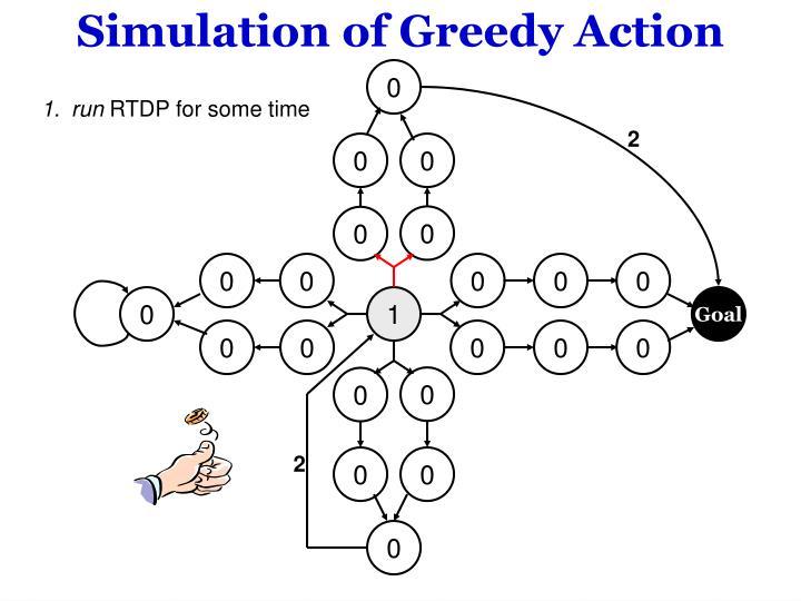 Simulation of Greedy Action