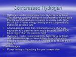 compressed hydrogen