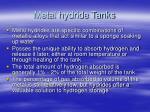 metal hydride tanks