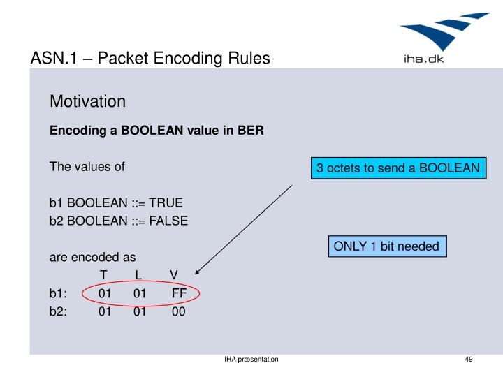 ASN.1 – Packet Encoding Rules