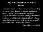 1981 mass observation project revived