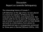 discussion report on juvenile delinquency2