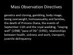 mass observation directives