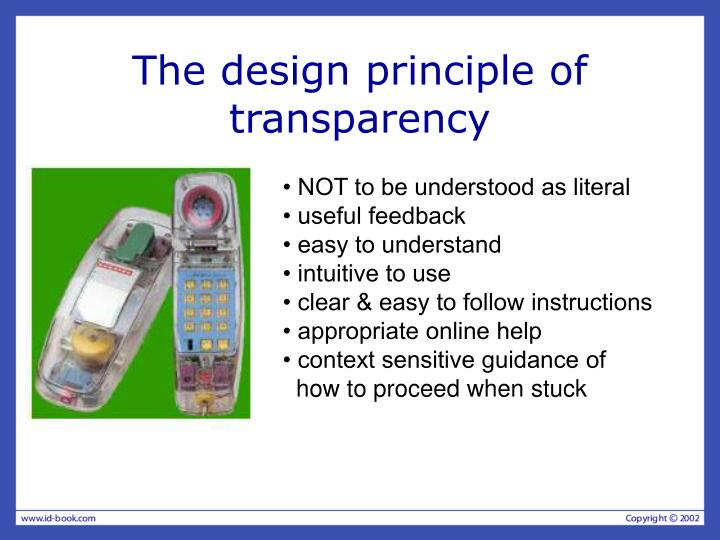 The design principle of transparency