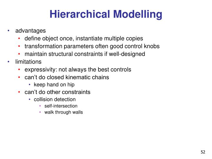 Hierarchical Modelling