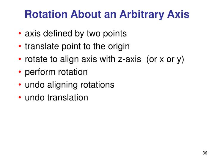 Rotation About an Arbitrary Axis
