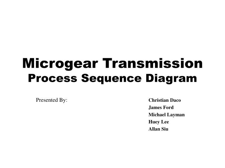 microgear transmission process sequence diagram n.