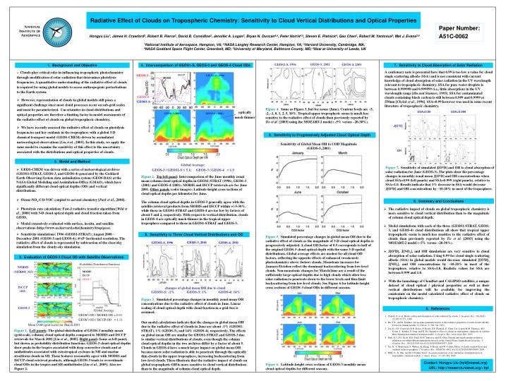 Radiative Effect of Clouds on Tropospheric Chemistry: Sensitivity to Cloud Vertical Distributions an...