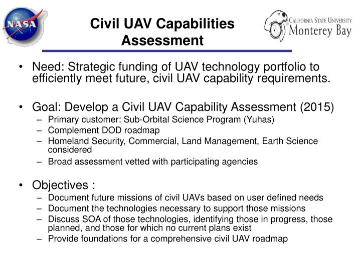 Civil uav capabilities assessment