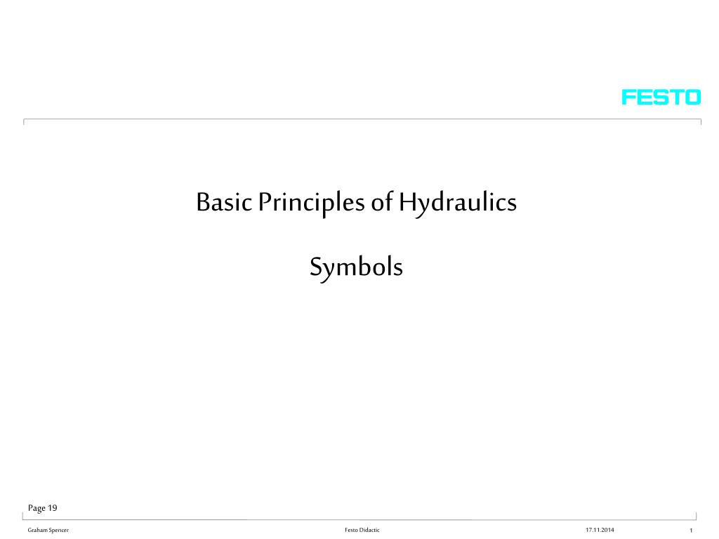PPT - Basic Principles of Hydraulics Symbols PowerPoint