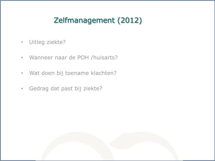Zelfmanagement (2012)