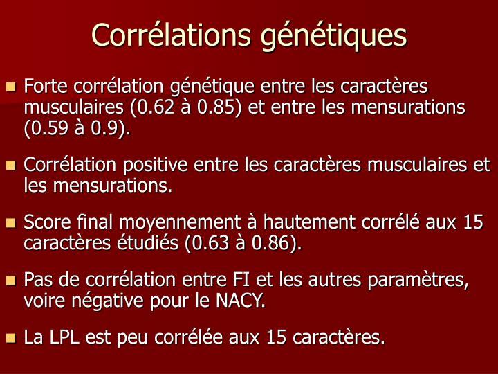 Corrélations génétiques