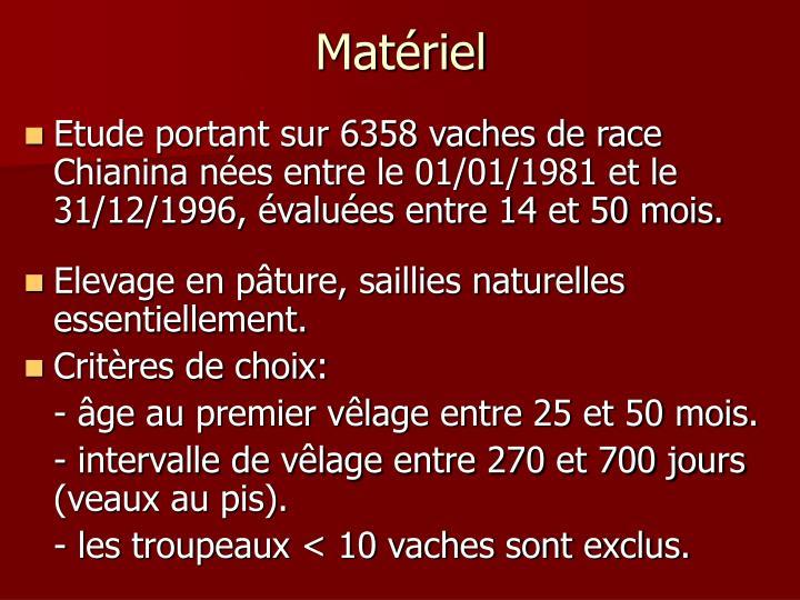 Matériel