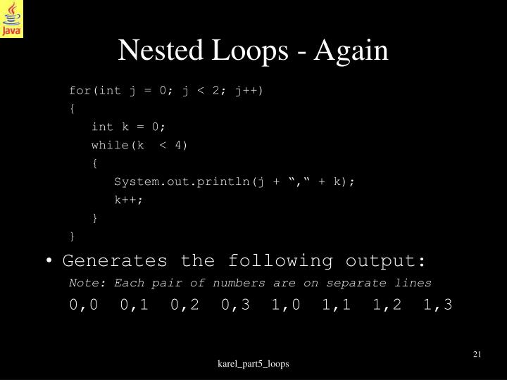 Nested Loops - Again