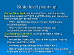 state level planning