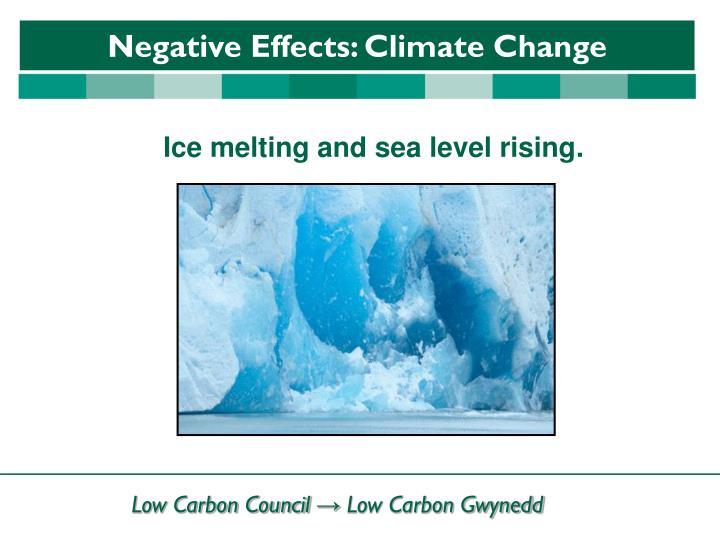 Ice melting and sea level rising