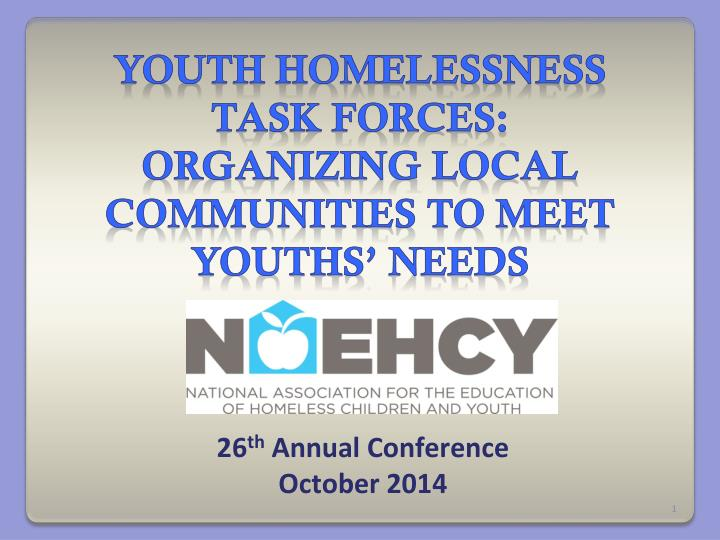 26 th annual conference october 2014 n.