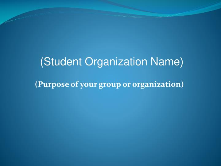 purpose of your group or organization n.