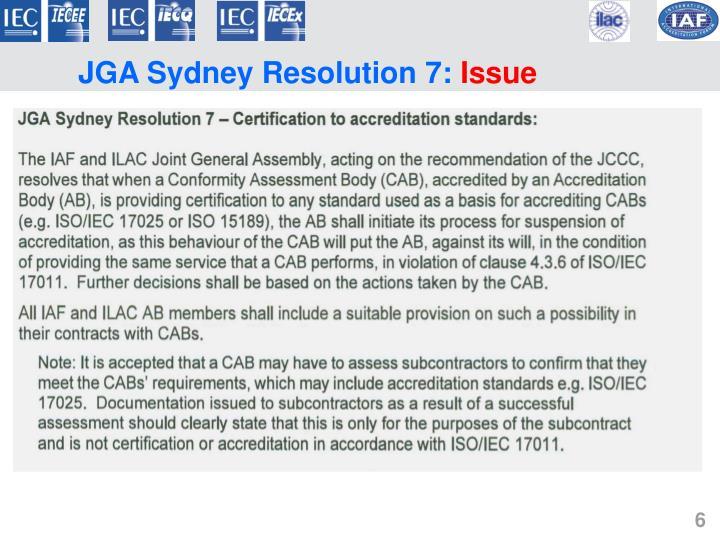 JGA Sydney Resolution 7:
