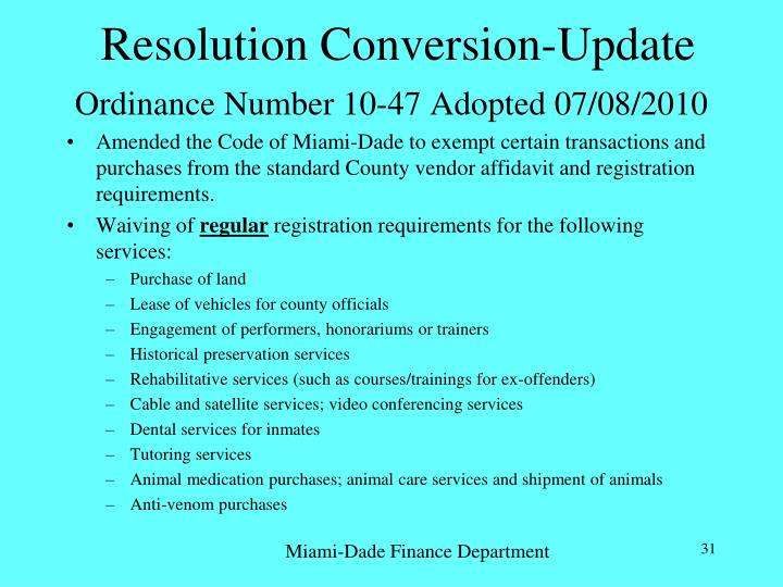 Resolution Conversion-Update