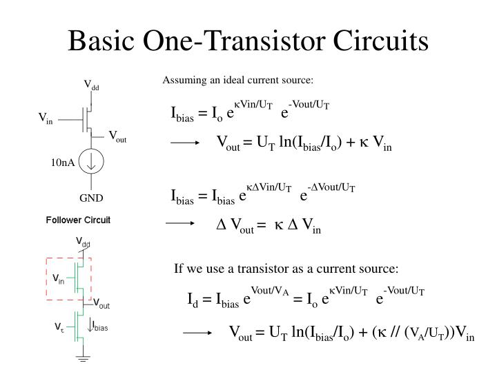 If we use a transistor as a current source: