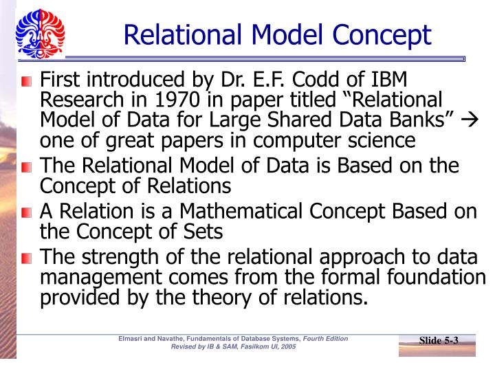 Relational model concept