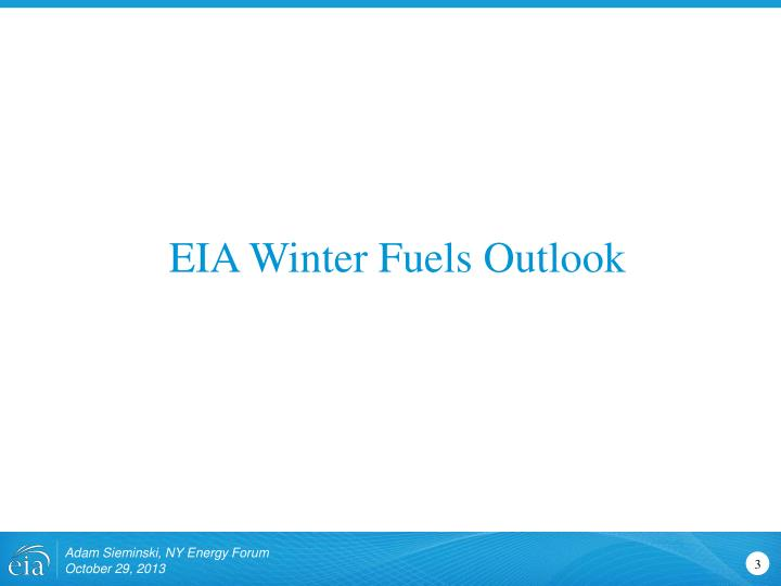 EIA Winter Fuels Outlook